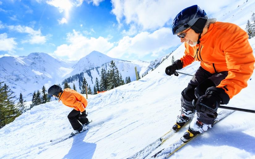 גולשים בחופשת סקי